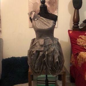 Vera Wang Ruffled Dress